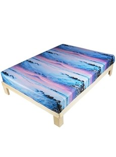 Beautiful Pebbles in the Mist Print 3D Fitted Sheet