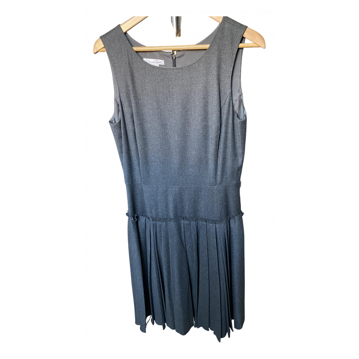 Oscar De La Renta \N Kleid in  Grau Wolle