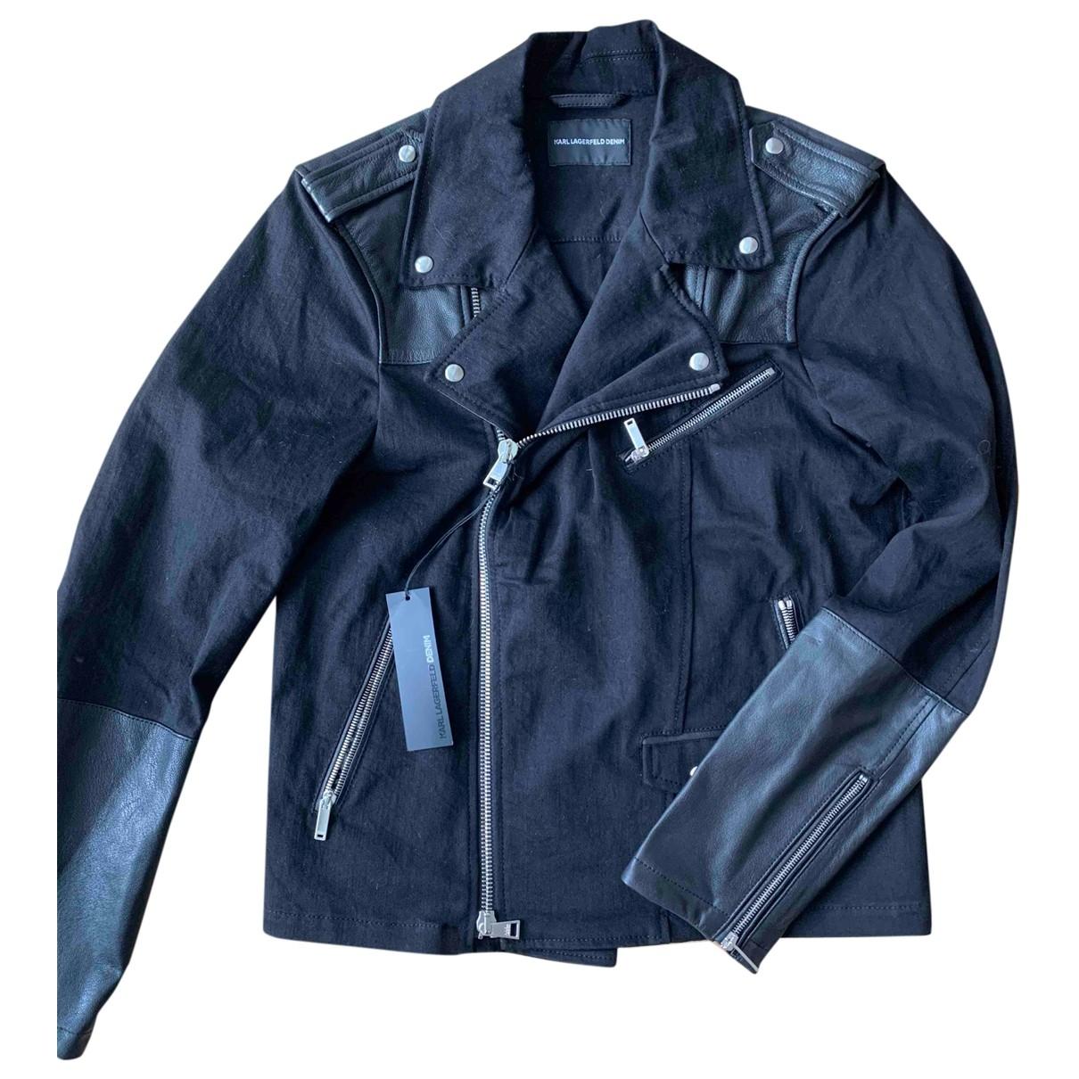 Karl Lagerfeld \N Black Leather jacket  for Men L International