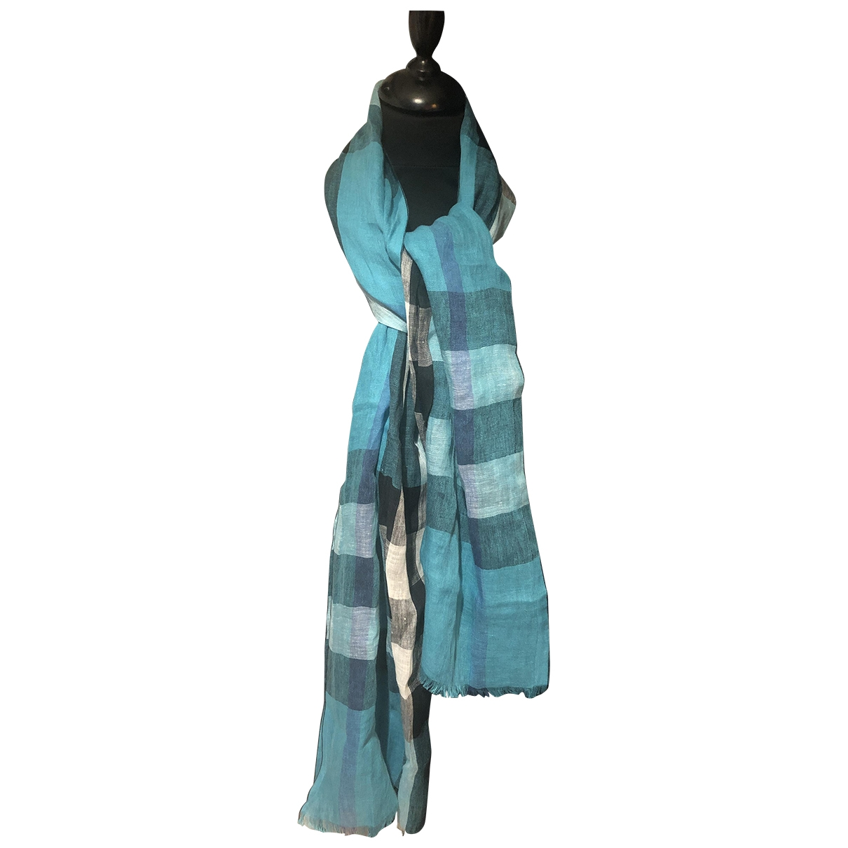 Burberry \N Blue Linen scarf for Women \N