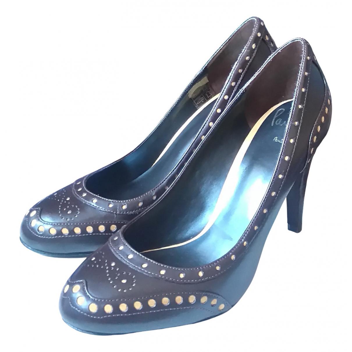 Paul Smith N Brown Leather Heels for Women 39.5 EU
