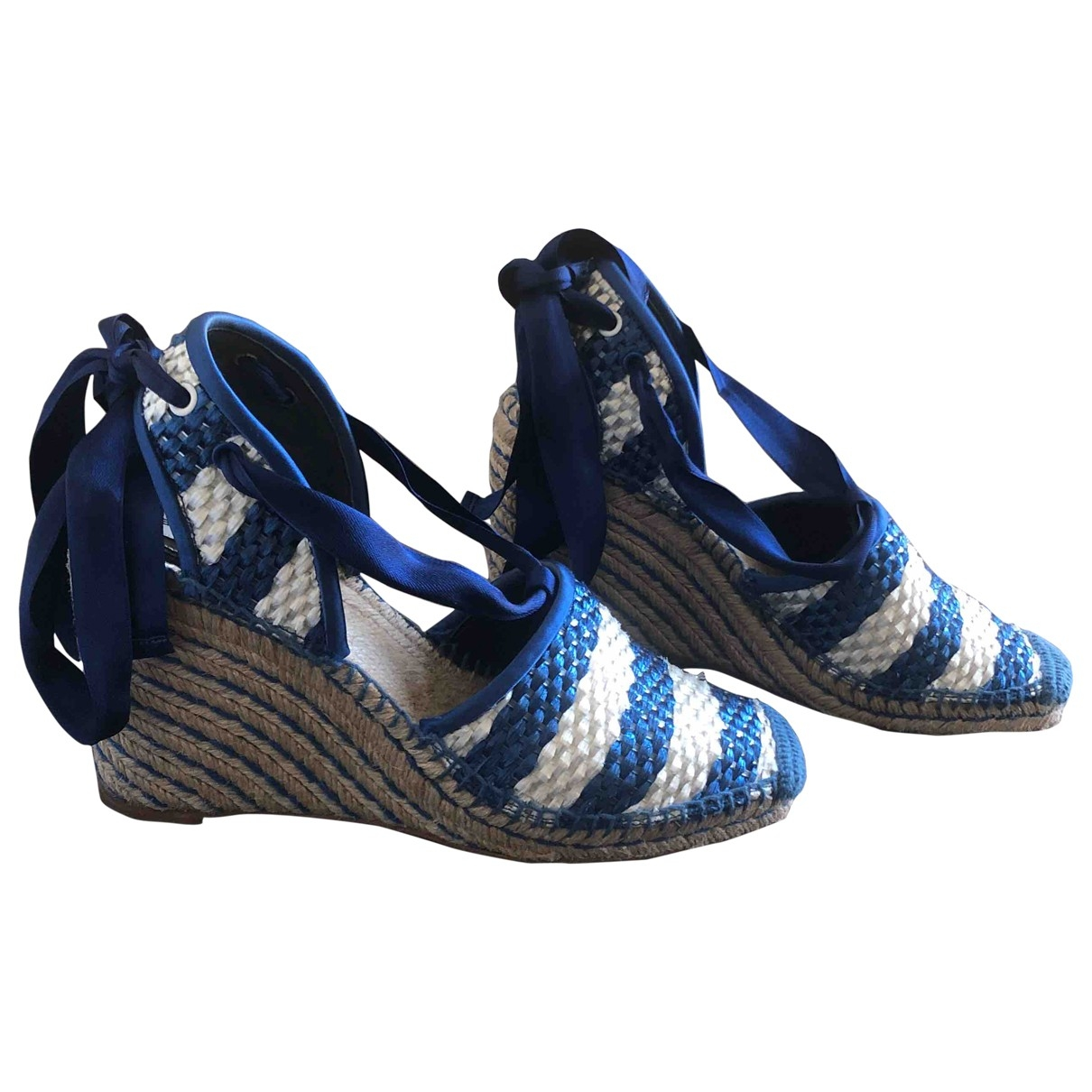 Balenciaga - Espadrilles   pour femme en cuir - bleu