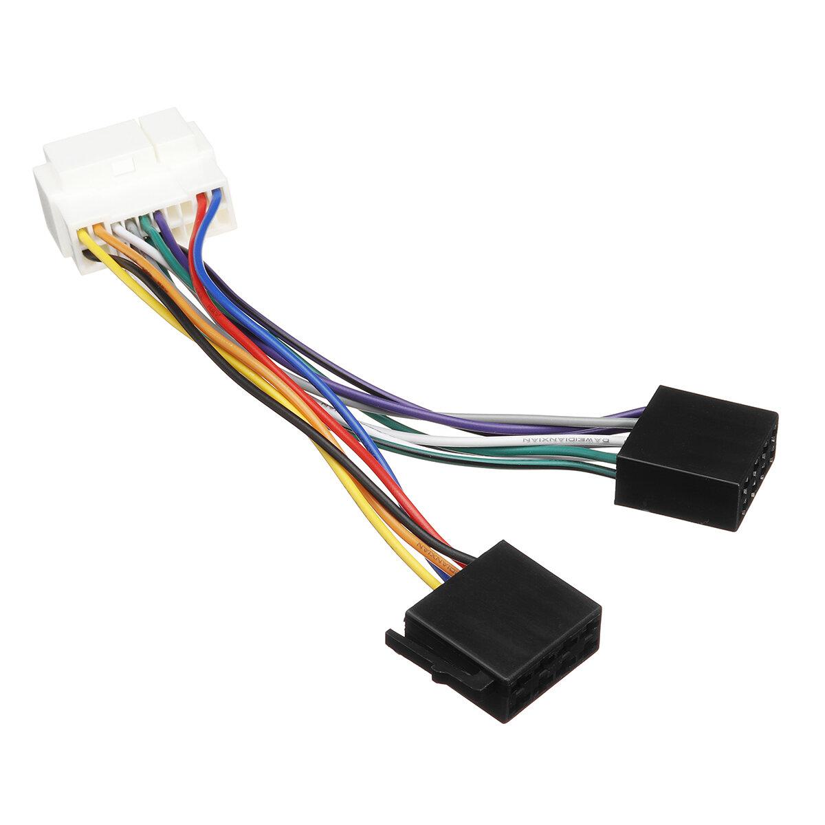 Car Stereo Radio ISO Wiring Harness 13Pin Plug Lead Wire Loom Connector Adaptor For Honda