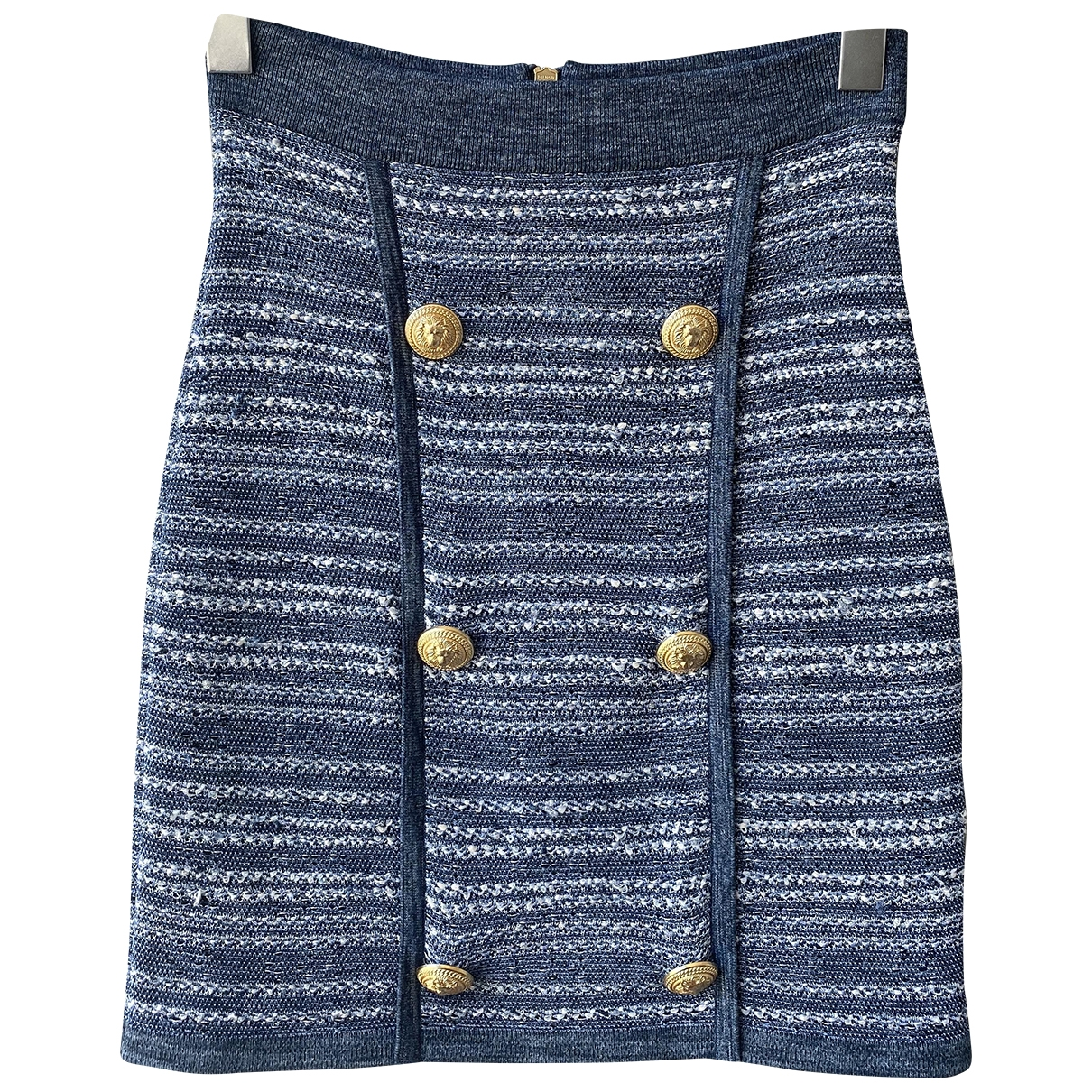 Balmain \N Blue skirt for Women 36 FR