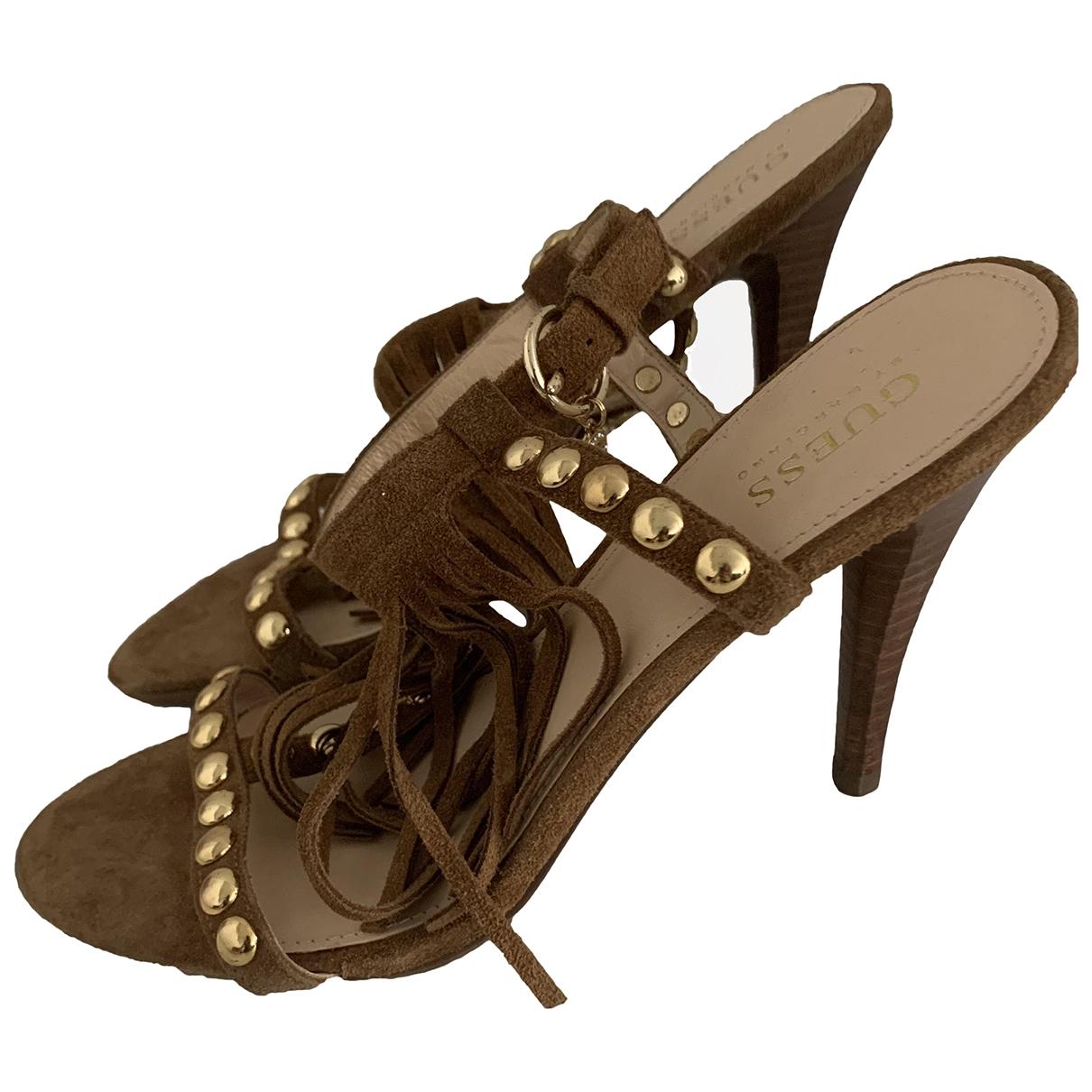 Guess \N Camel Suede Sandals for Women 39 EU
