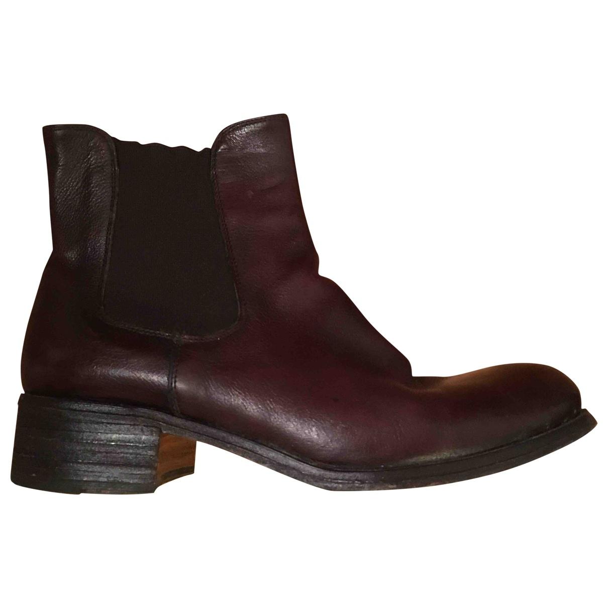 Raparo - Boots   pour femme en cuir - marron