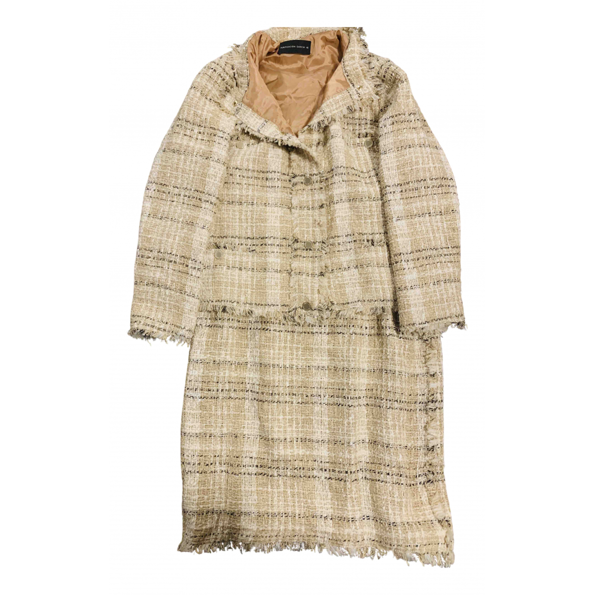 Non Signé / Unsigned \N Beige Tweed jacket for Women 46 FR