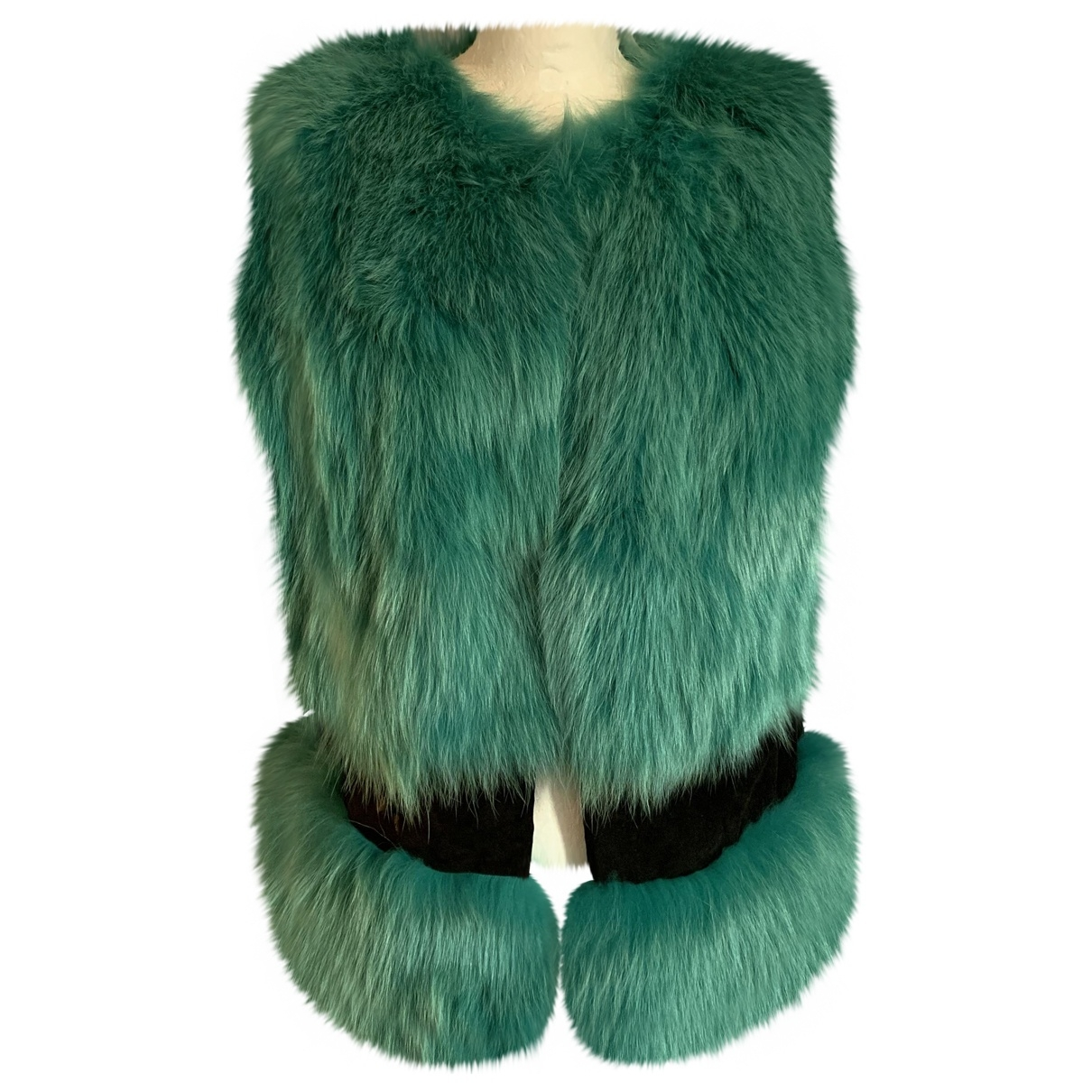 Simonetta Ravizza \N Green Fox jacket for Women 42 IT