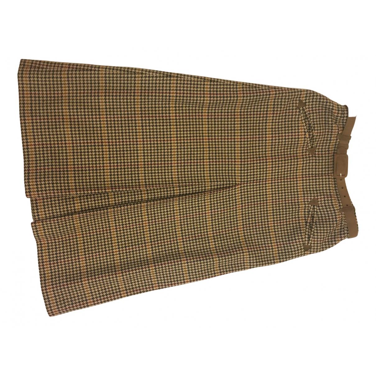 Daks - Jupe   pour femme en laine - beige