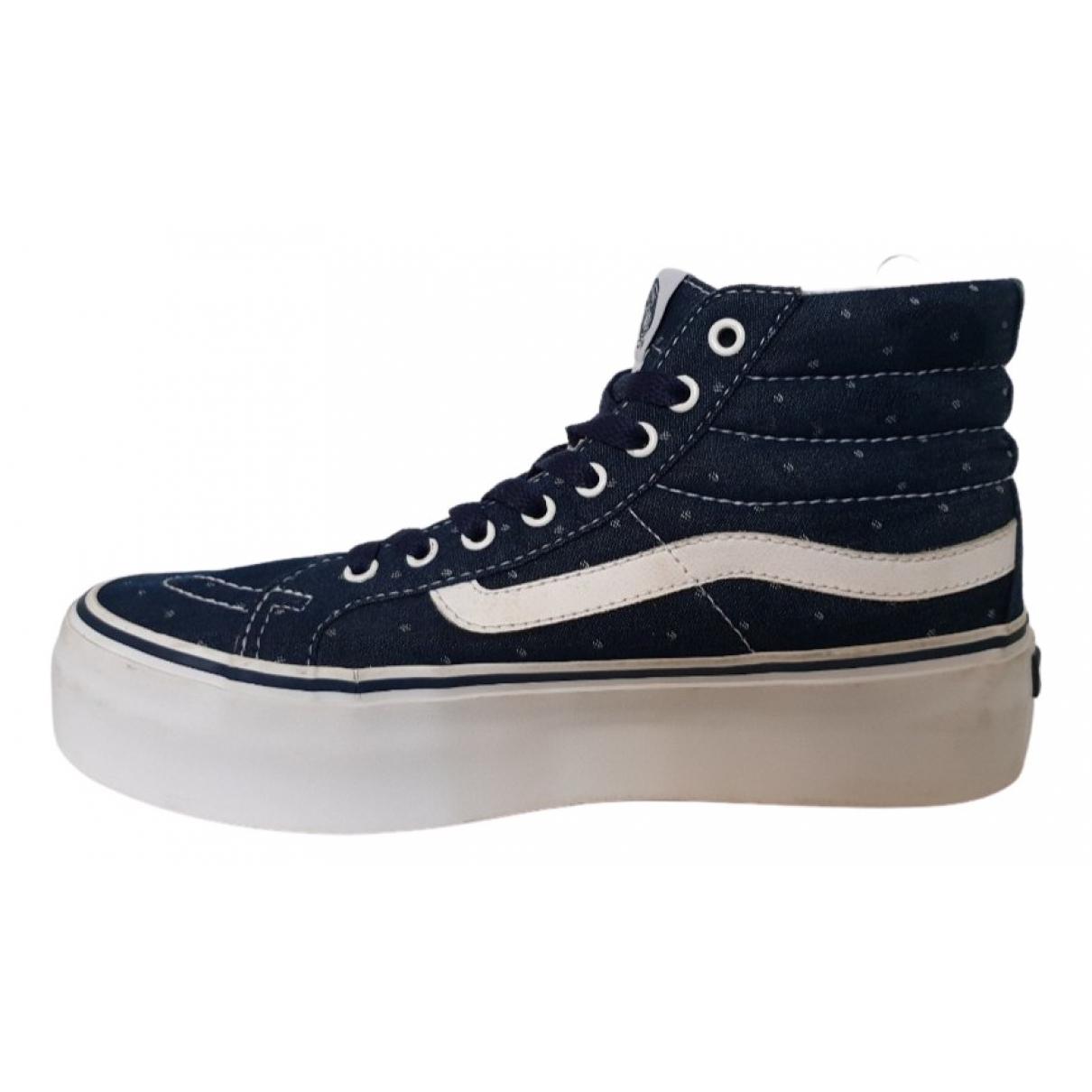 Vans \N Blue Cloth Trainers for Women 38.5 EU