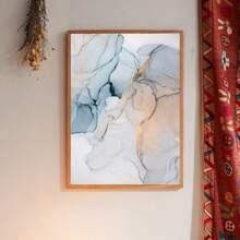 Wandmalerei mit Marmor Muster ohne Rahmen
