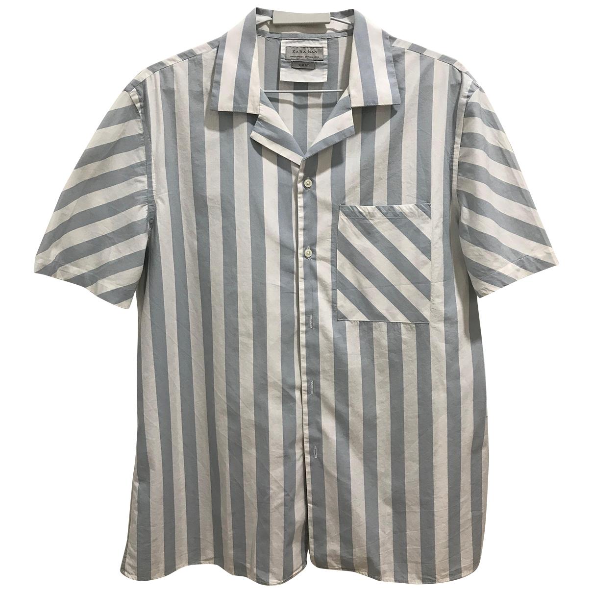 Zara \N Hemden in  Blau Baumwolle