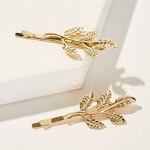 Leaf Design Hairpin 2pcs