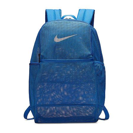 Nike Brasilia Xl 9 Mesh Backpack, One Size , Blue