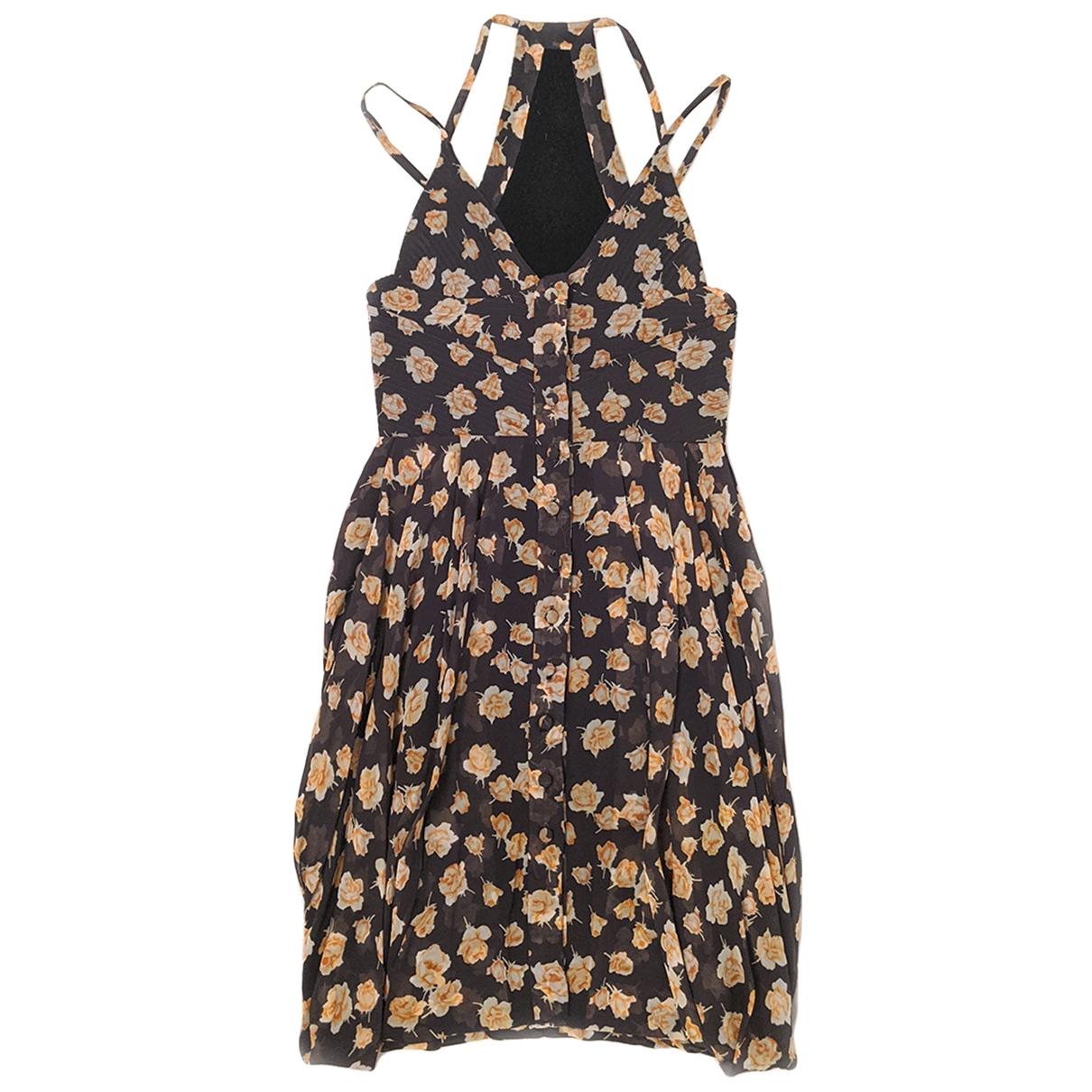 Marios Schwab \N Kleid in  Grau Synthetik