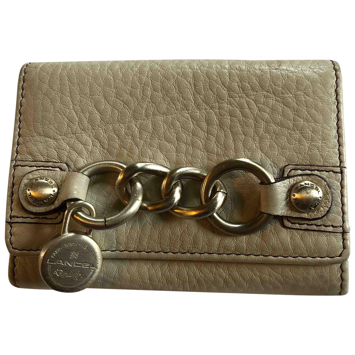 Lancel \N Beige Leather wallet for Women \N
