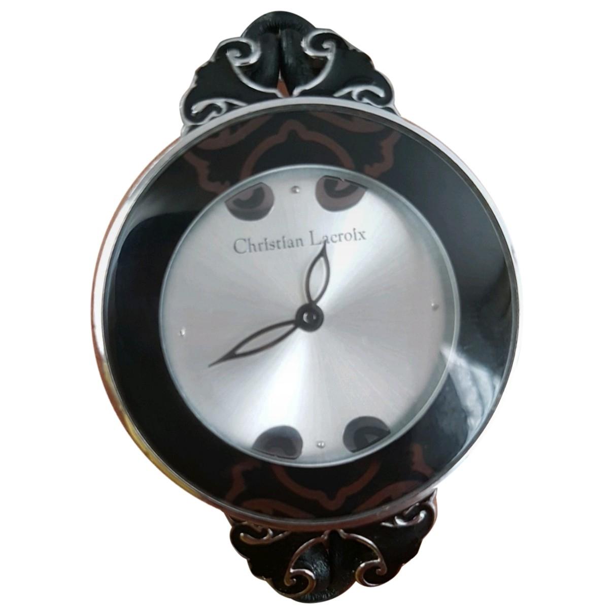 Christian Lacroix \N Uhr in  Schwarz Stahl