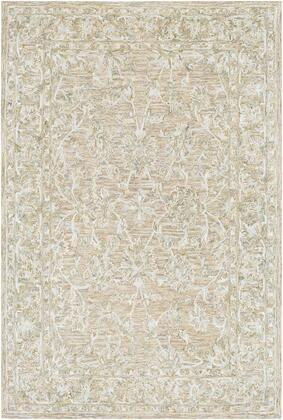 Shelby SBY-1000 9' x 13' Rectangle Traditional Rug in Cream  Medium Gray  Mustard  Light
