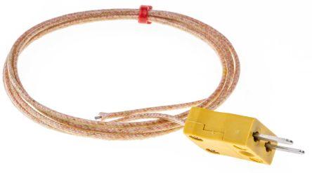 RS PRO Type K Thermocouple 1m Length, 1/0.3mm Diameter → +350°C