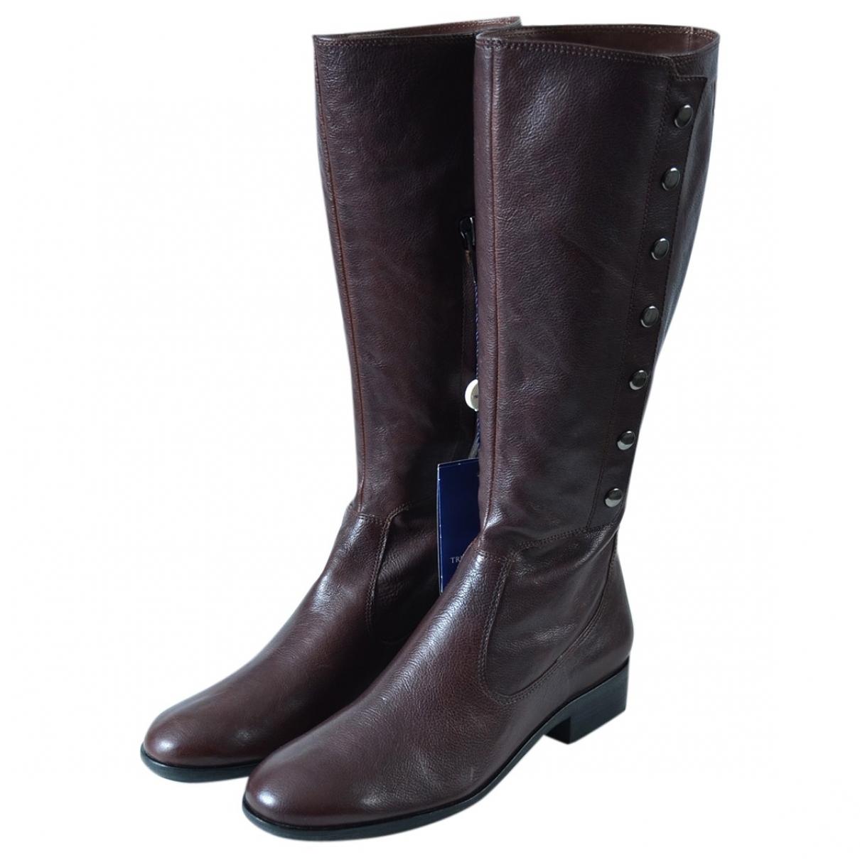 Trussardi Jeans \N Stiefel in  Braun Leder