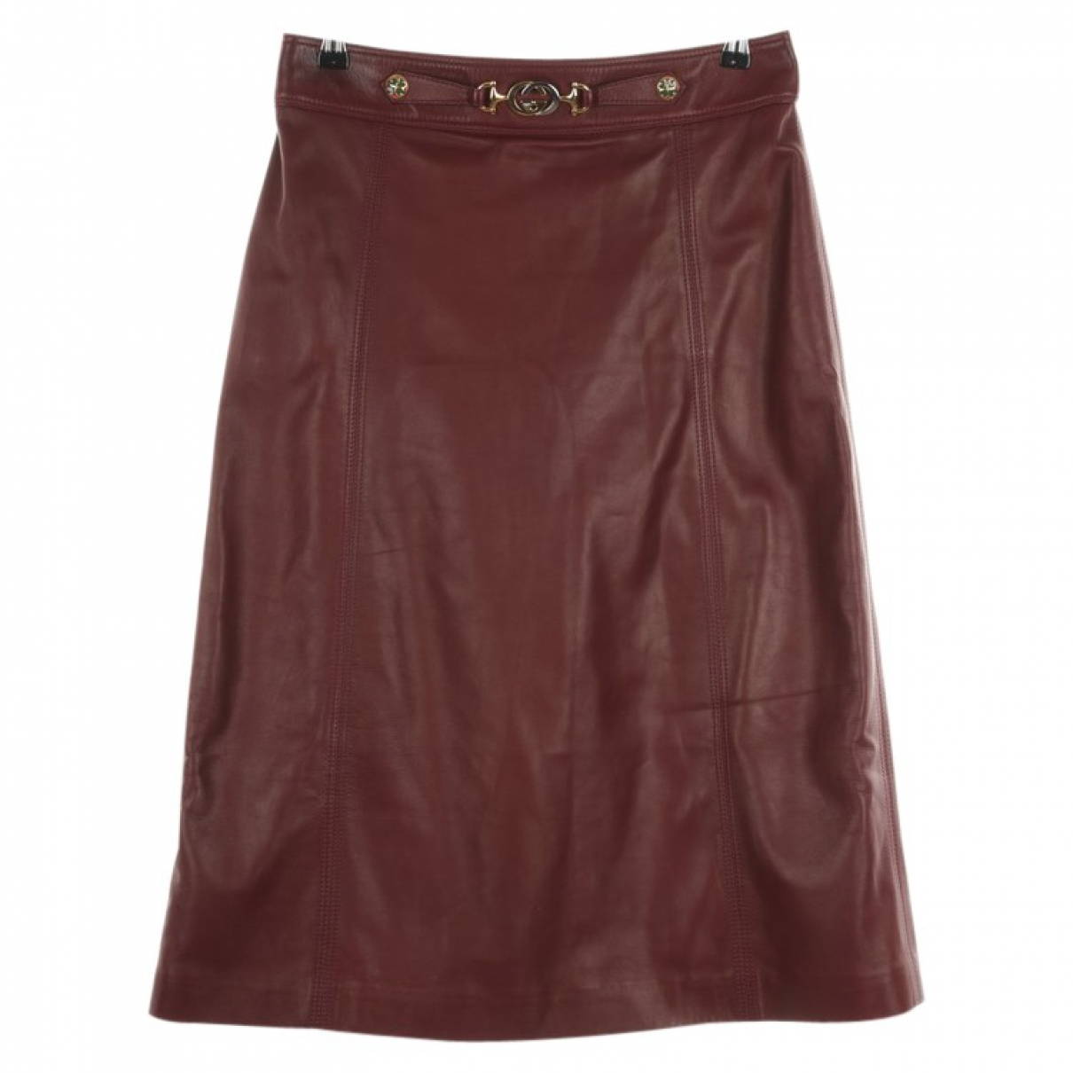 Gucci \N Red Leather skirt for Women 40 FR