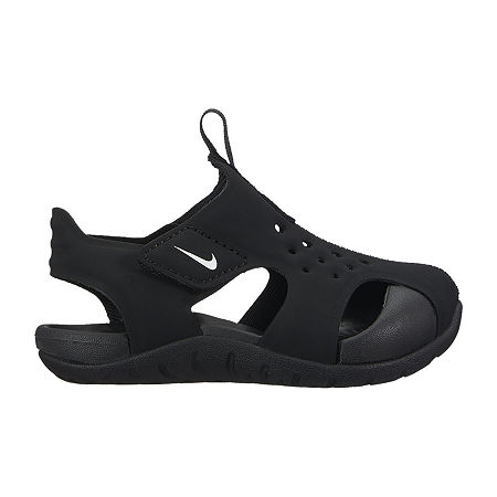 Nike Sunray Protect 2 Toddler Boys Strap Sandals, 10 Medium, Black