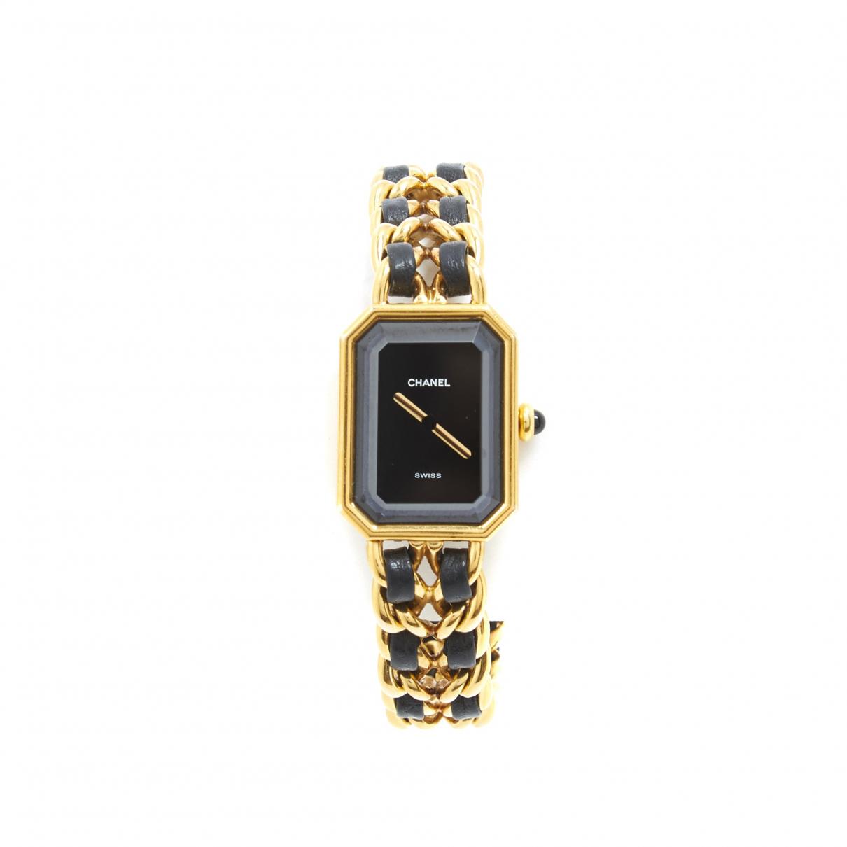 Chanel - Montre Premiere pour femme en plaque or - dore