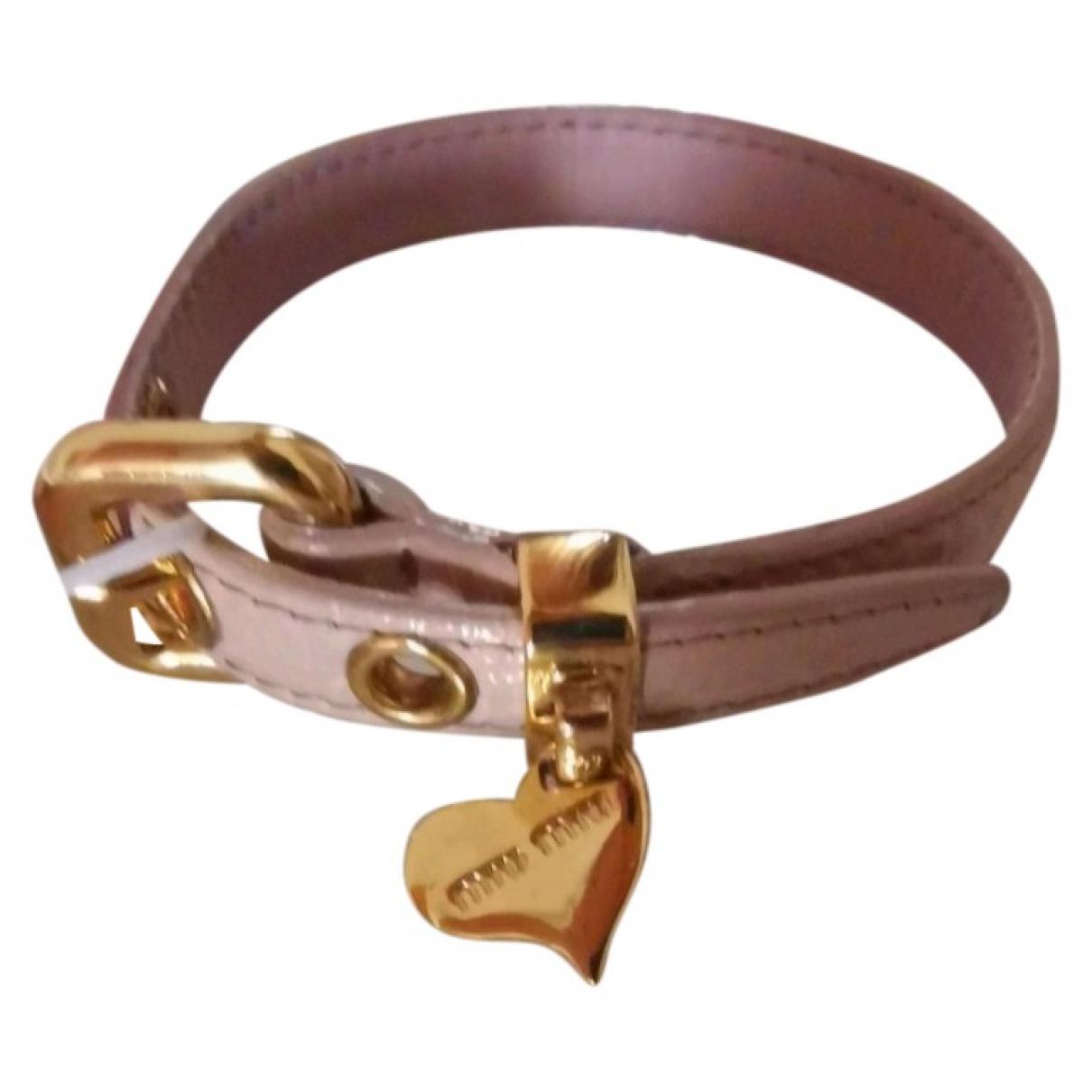 Miu Miu \N Pink Leather bracelet for Women \N