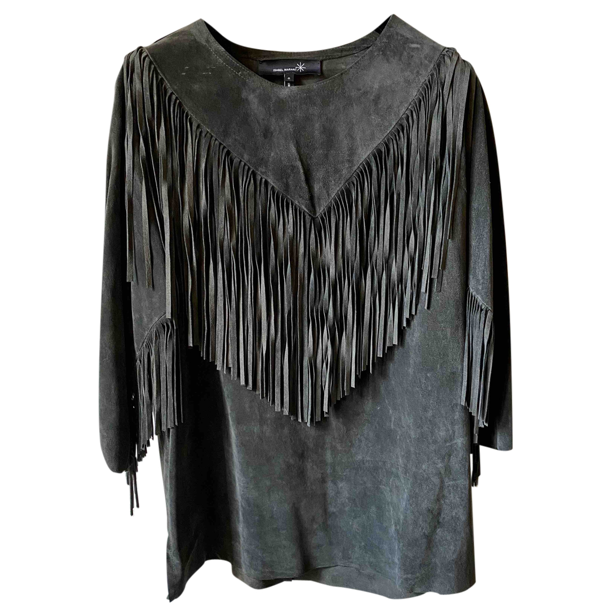 Isabel Marant N Anthracite Leather  top for Women 0 0-5