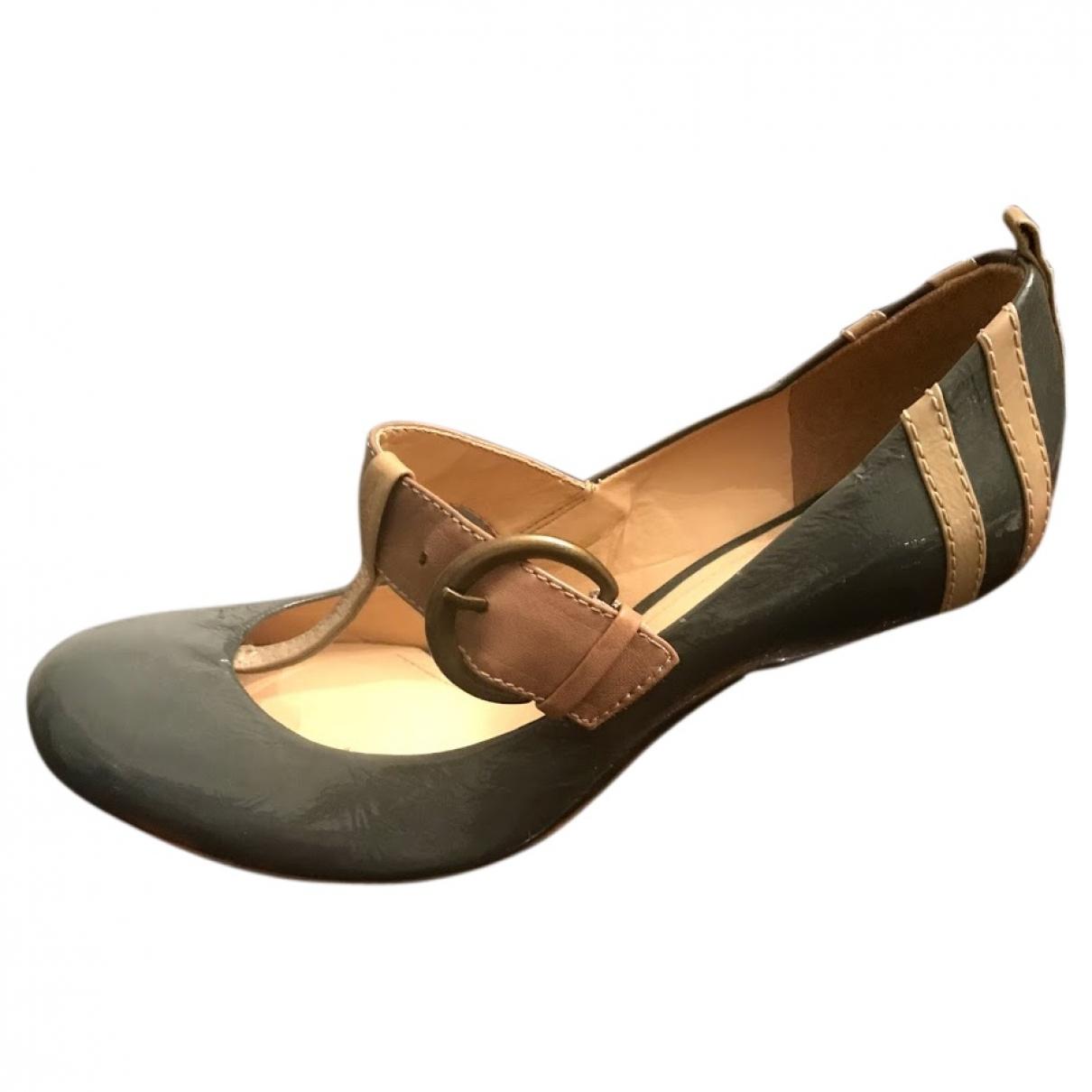Clarks - Escarpins   pour femme en cuir - gris