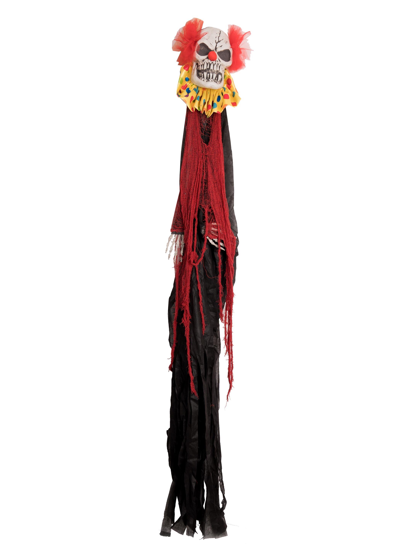 Wanddeko Clown schwarz/rot