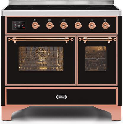 UMDI10NS3BKP 40 Majestic II Series Induction Range with 6 Elements  3.82 cu. ft. Total Oven Capacity  TFT Oven Control Display  Copper Trim  in