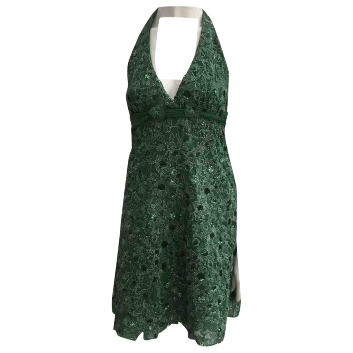 Non Signé / Unsigned \N Green Silk dress for Women S International