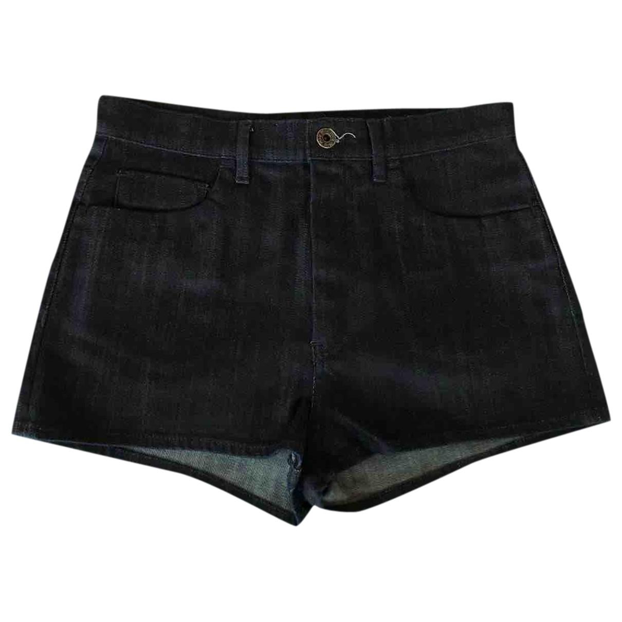Miu Miu \N Blue Denim - Jeans Shorts for Women S International
