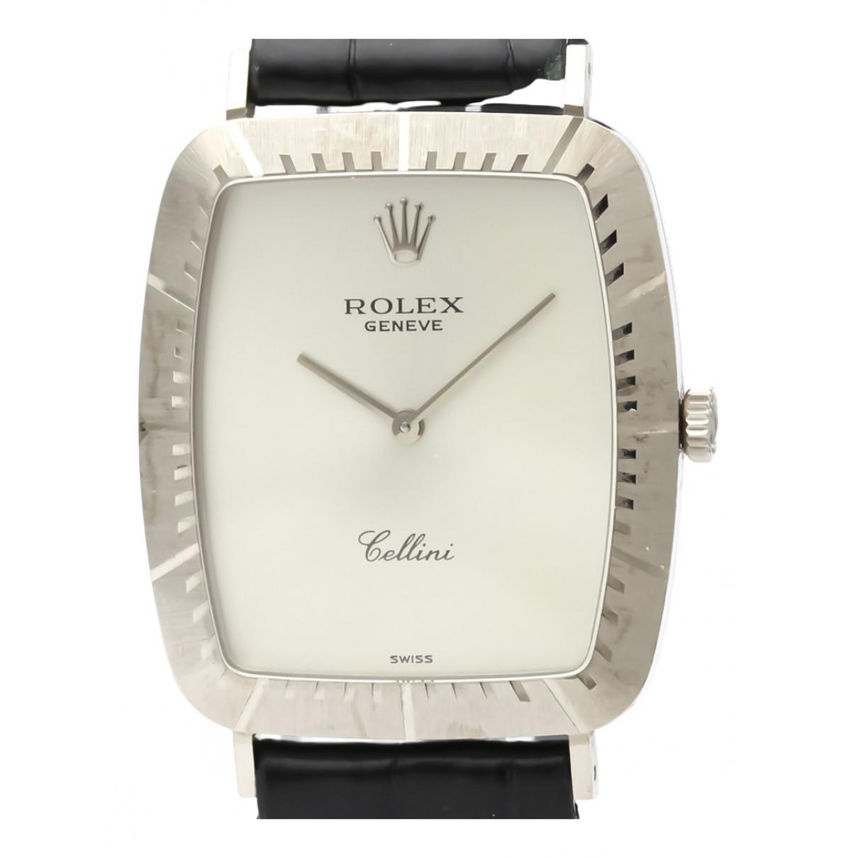 Rolex - Montre Cellini pour homme en or blanc - argente