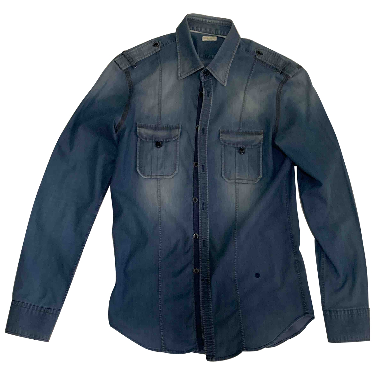 Non Signé / Unsigned \N Blue Cotton Shirts for Men 41 EU (tour de cou / collar)