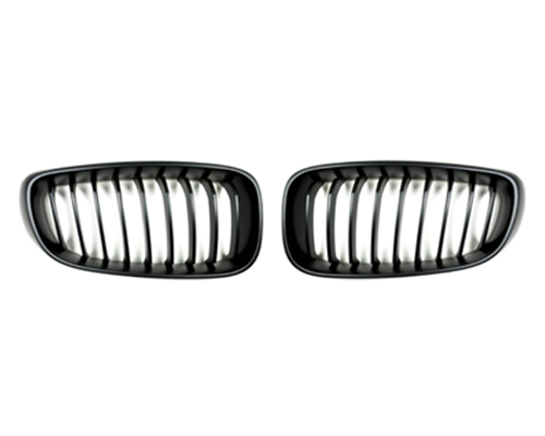 AutoTecknic Stealth Black Front Grilles BMW F34 3-Series GT Gran Turismo 13-15