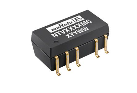 Murata Power Solutions NTV 1W Isolated DC-DC Converter Surface Mount, Voltage in 4.5 → 5.5 V dc, Voltage out ±9V