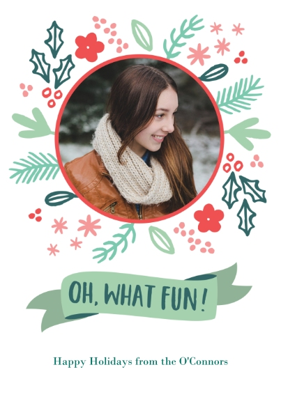 Fun & Festive Flat Glossy Photo Paper Cards with Envelopes, 5x7, Card & Stationery -Festive Floral Fun