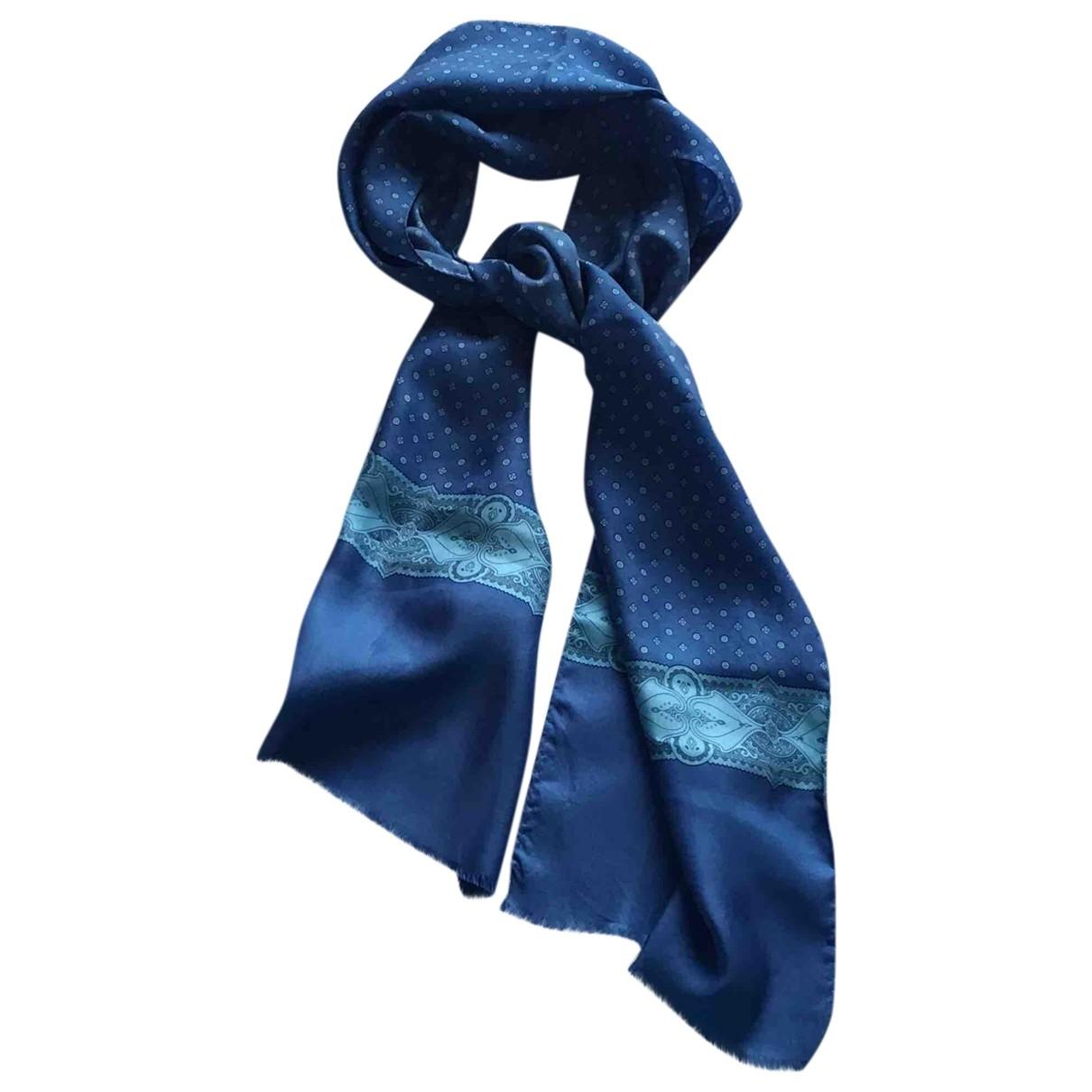 Pierre Cardin - Cheches.Echarpes   pour homme en soie - bleu