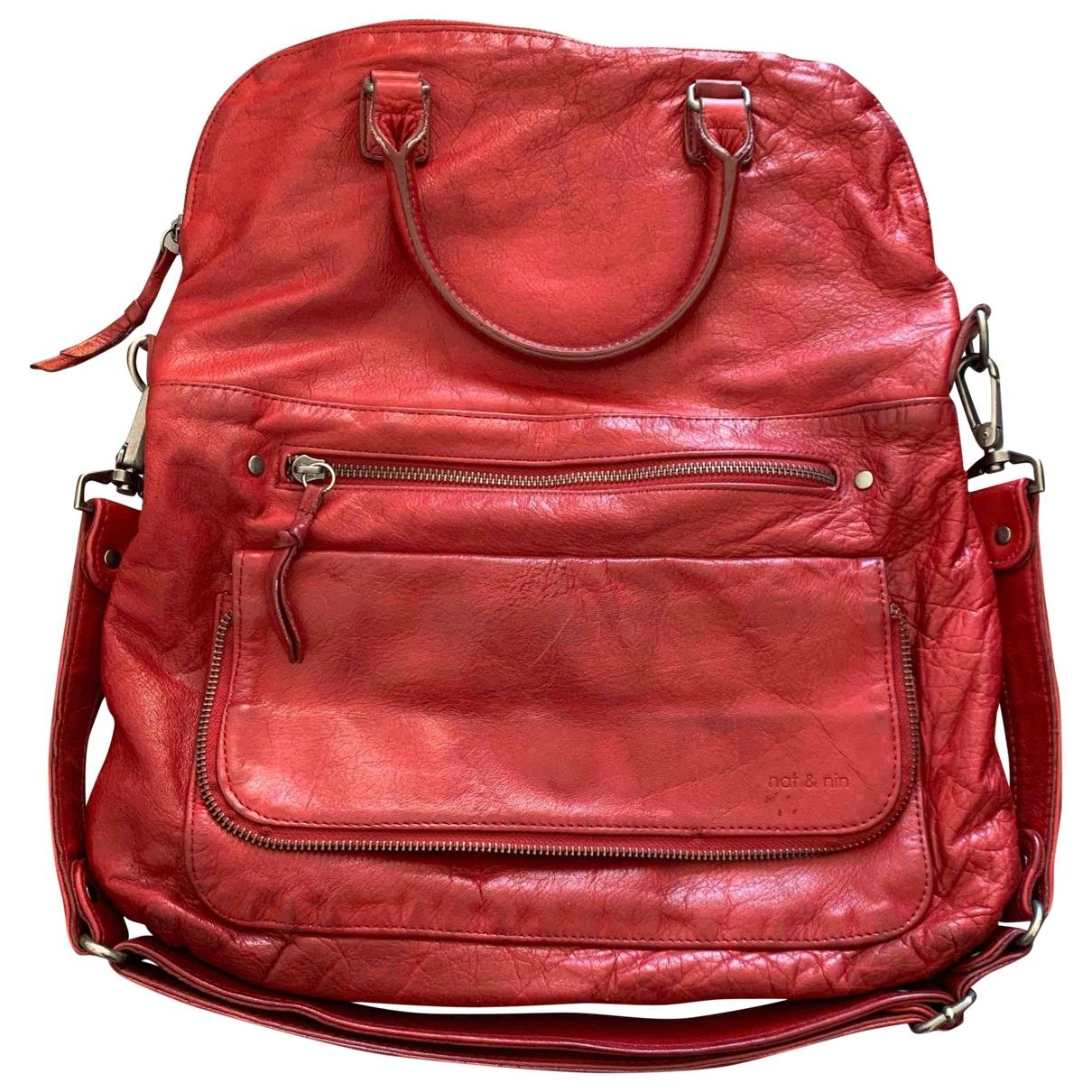 Nat & Nin \N Red Leather handbag for Women \N