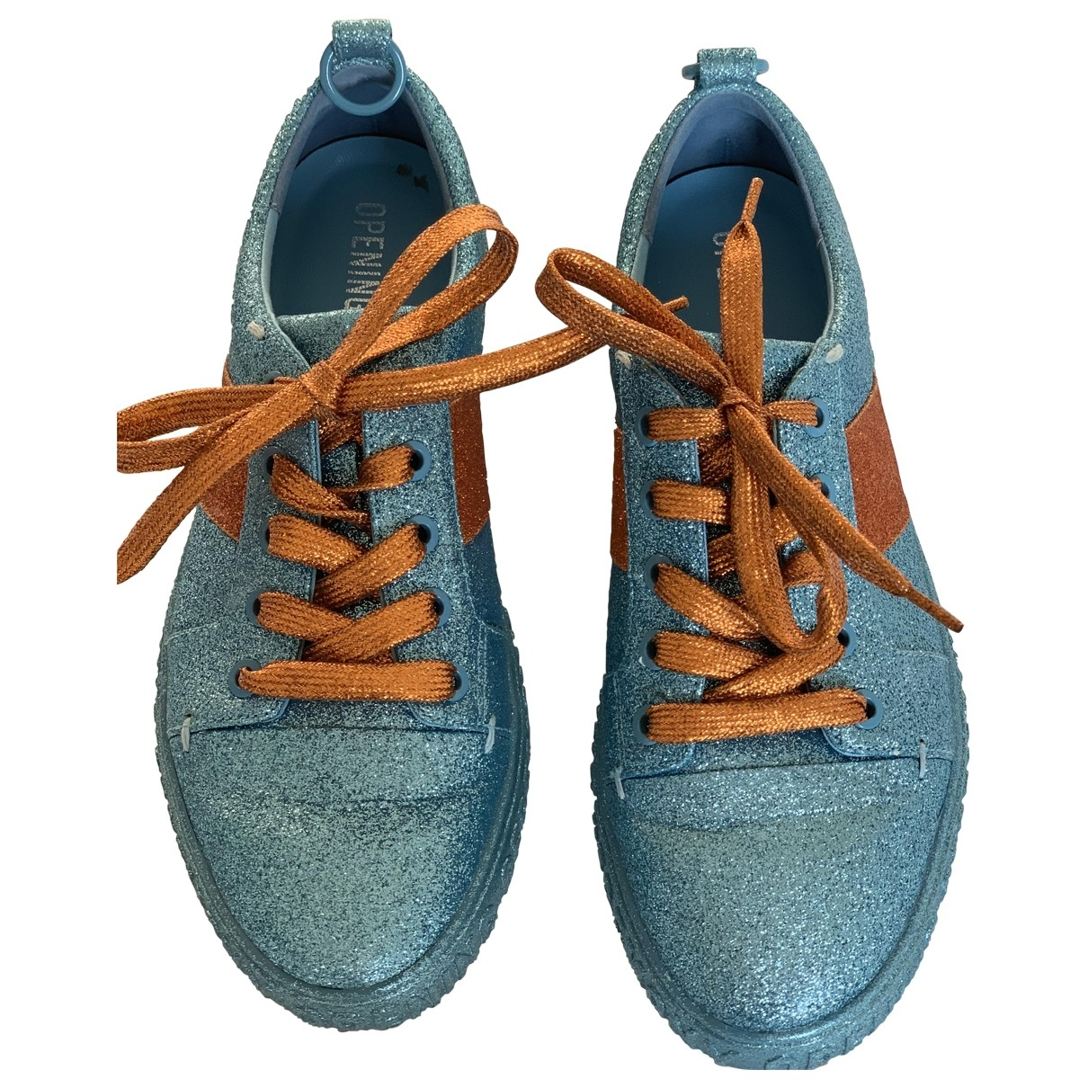 Opening Ceremony \N Blue Leather Trainers for Women 38 EU
