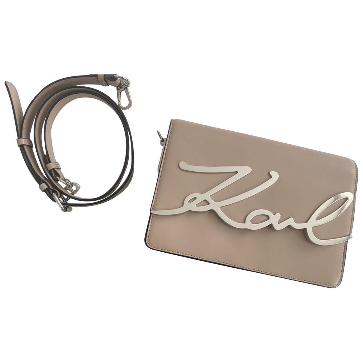 Karl Lagerfeld - Sac a main   pour femme en cuir - rose