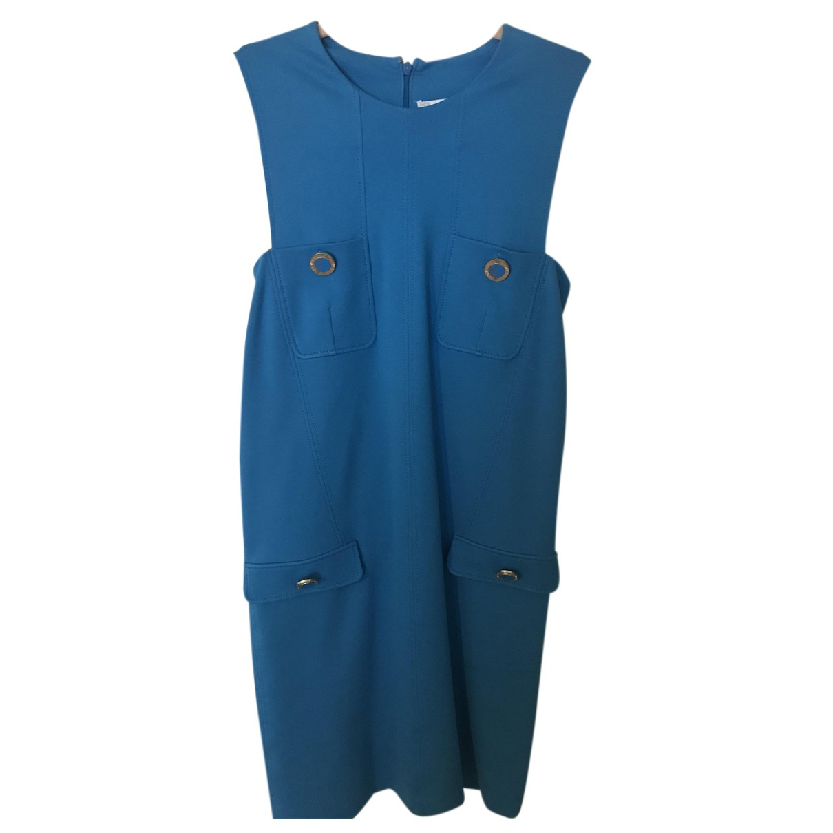 Versace N Blue Cotton - elasthane dress for Women 10 UK