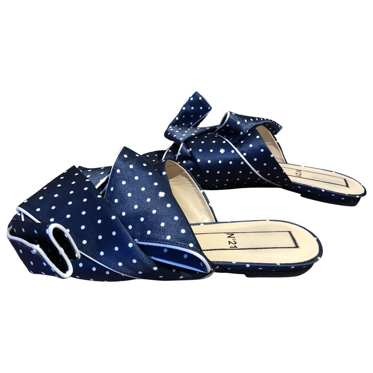 N°21 \N Blue Cloth Flats for Women 39 EU