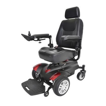 titan18csx16 Titan X16 Front Wheel Power Wheelchair  Full Back Captain's Seat  18