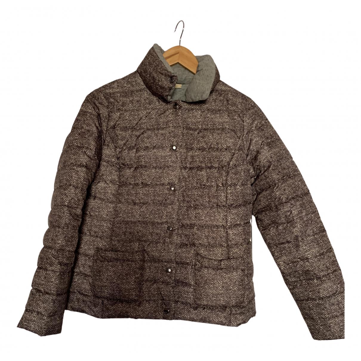 Falconeri \N Lederjacke in  Braun Polyester