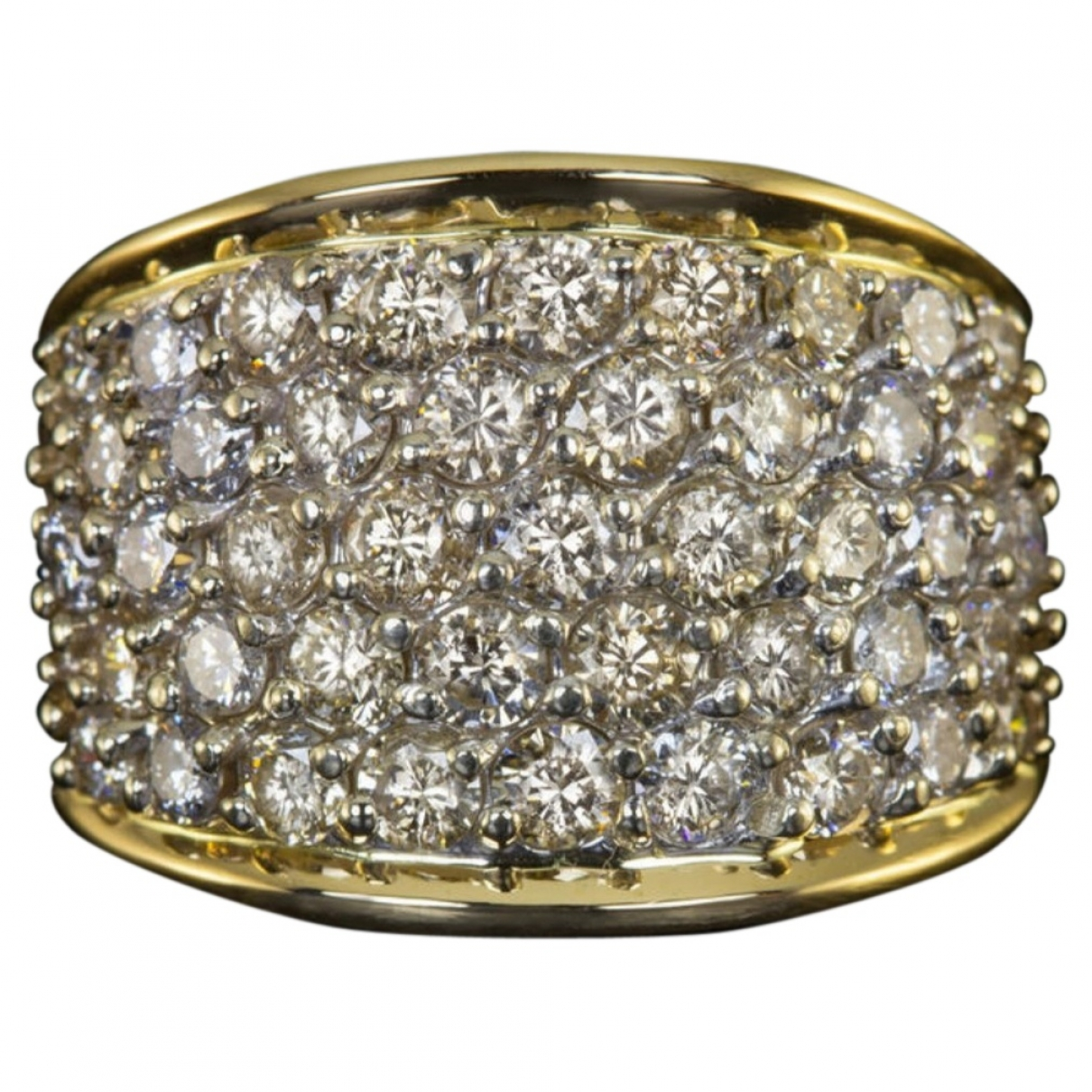 Non Signé / Unsigned Alliance White Yellow gold ring for Women \N