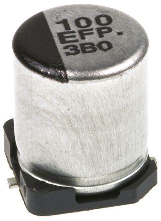 Panasonic 100μF Electrolytic Capacitor 25V dc, Surface Mount - EEEFPE101XAP (5)