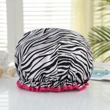1pc Zebra Stripe Print Shower Cap